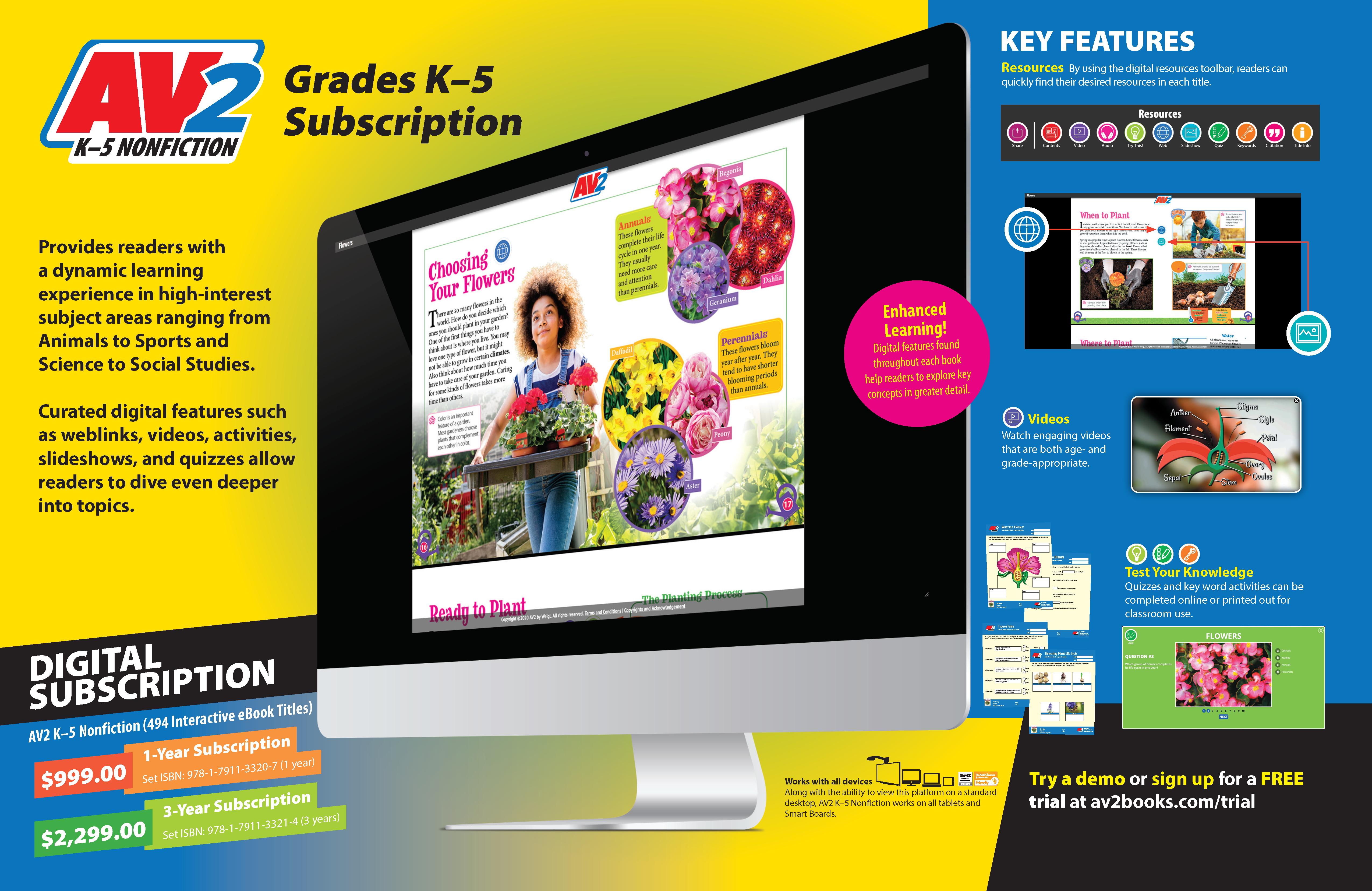 2021 AV2 K–5 Nonfiction Subscription