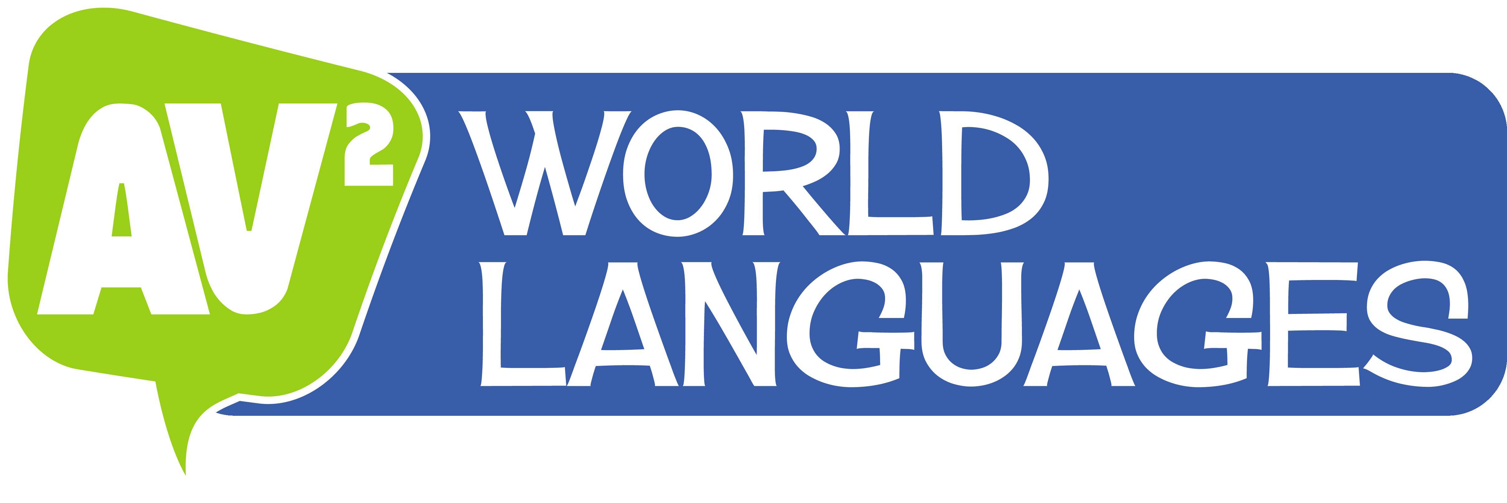 AV2 World Languages (blue badge) logo
